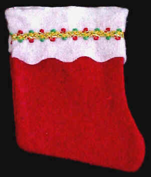 Mini Red Felt Christmas Stockings