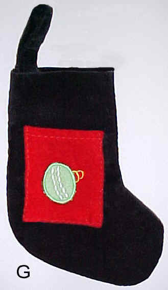 Black Velvet Mini Christmas Stocking