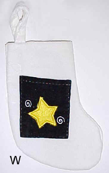 White Velvet Mini Christmas Stocking
