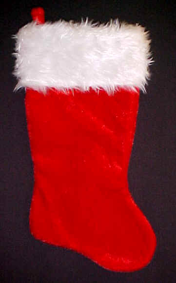 Velvet Plush Christmas Stockings|Red or Green Plush Stockings