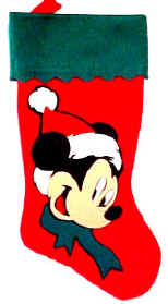 Mickey Mouse Christmas Stockings Felt