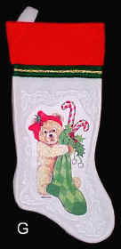 Christmas Bear Stocking Girl