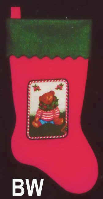 Felt Christmas Stocking Boy Bear