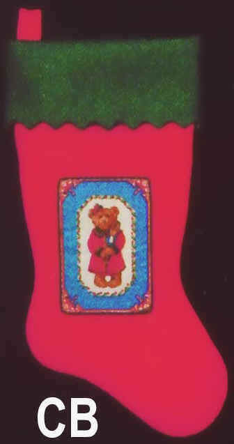 Felt Christmas Stockings Bear