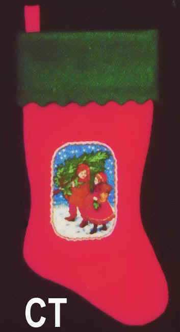 Felt Christmas Stocking Children