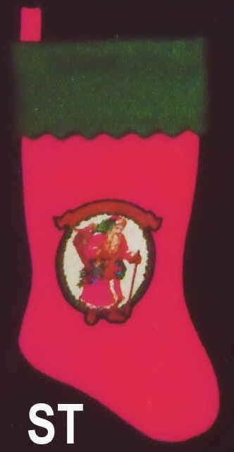Felt Christmas Stocking Santa