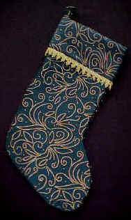Green and Gold Satin Swirl Stockings