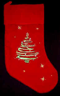 Christmas Tree Stocking Red Velvet