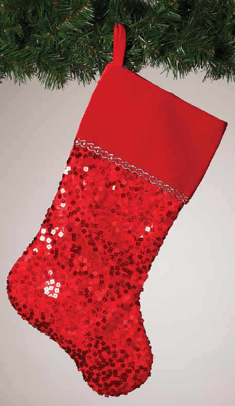 Velvet Or Elegant Christmas Stockings Sequins Velvet