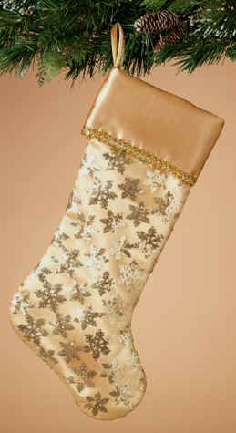 Gold Sequin Xmas Stockings