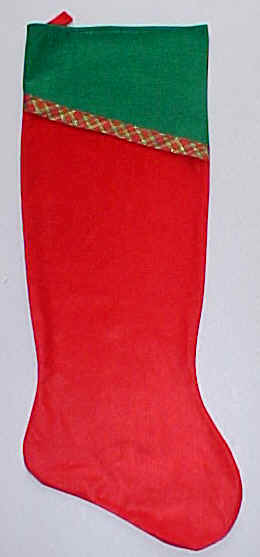 Big Green and Red Christmas Stockings