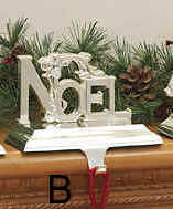Silver Metal Christmas Stocking Hangers