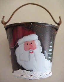 Christmas treats bucket Santa