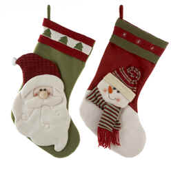 Sale Santa and Snowman stocking