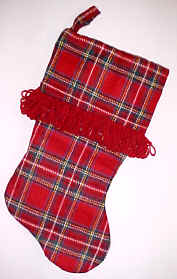 Red Plaid Christmas Stockings