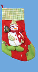 Green Plaid Christmas Stocking